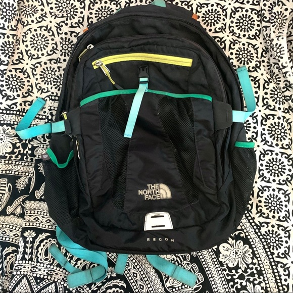North Face Recon Black Laptop Backpack Daypack